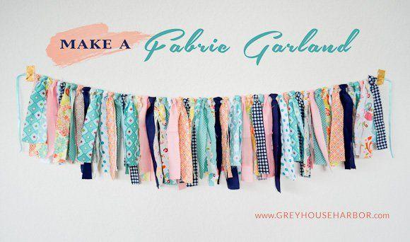 How to make a Fabric Garland - GREYHOUSEHARBOR.com