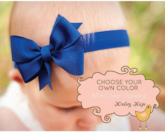 Baby Headband, Single Layer Pinwheel Boutique SMALL,  Baby Headband Bow, infant headband, baby headbands, baby bow headband on Etsy, $7.45