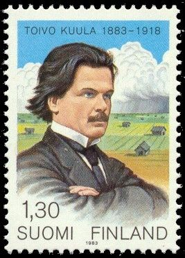 Postage stamp depicting the Finnish composer Toivo Kuula, 1983