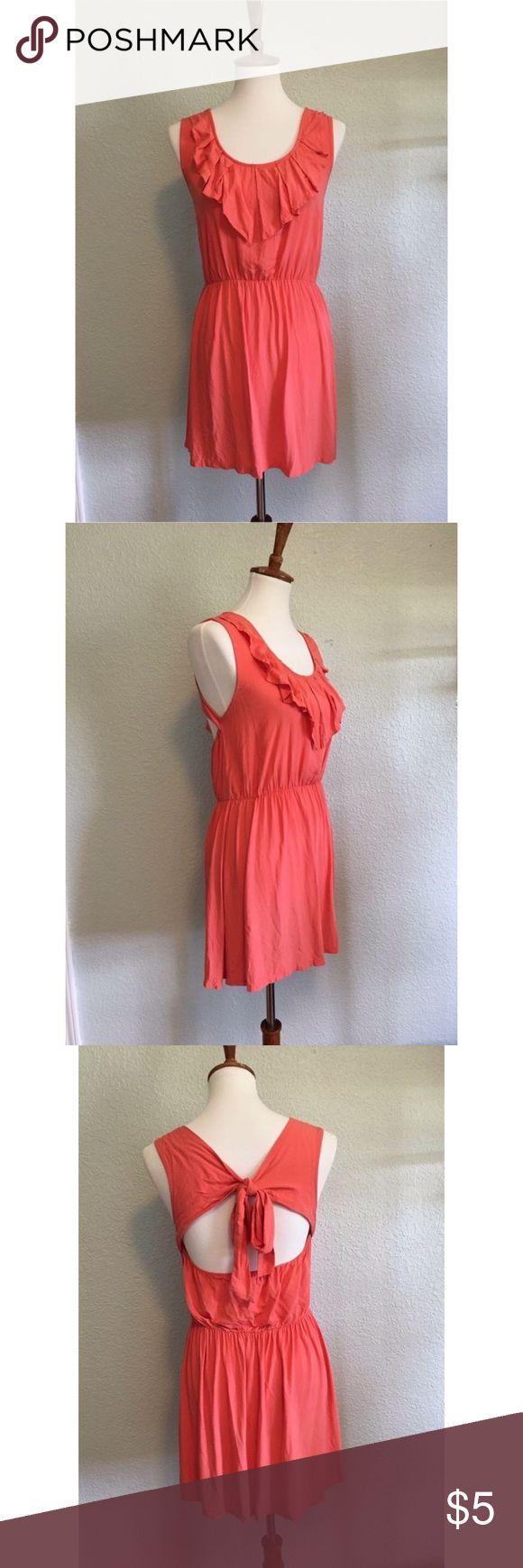 Summer Dress Price: 5$ Condition: Great! Brand: Margaret by be cool Size: M Material: 100% Rayon Sleeve: Sleeveless Color: Light coral/Salmon color Made in: China margaret by be cool Dresses Mini