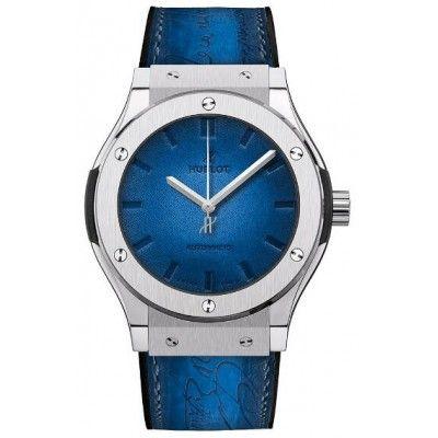 189 Best quality AAA Replica Hublot Classic Fusion Berluti Scritto Blue 45mm Watch 511.NX.050B.VR.BER16