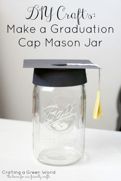 DIY Crafts: Make a Graduation Cap Mason Jar