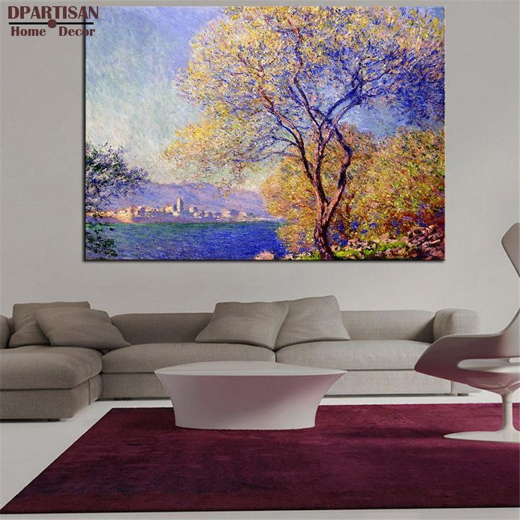 living room art prints%0A DPARTISAN antibes seen from the salis gardens Giclee poster By CLAUDE MONET art  prints on canvas