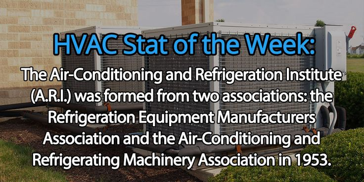 Did you know this about the Air-Conditioning and Refrigeration Institute? #FloridaHVAC #HVAC