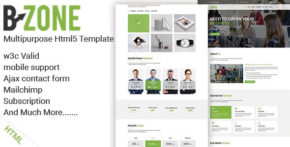 Bzone Is A Clean Modern And Flexible One Page Multipurpose Html5 Template That You Can Use For Agency Business Port Html5 Templates Psd Templates Templates
