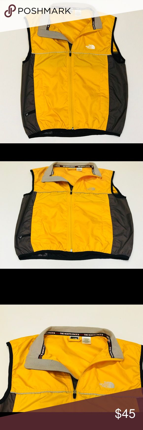BRAND NEW! YELLOW NORTH FACE VEST BRAND NEW NEVER WORN LIGHT WEIGHT, MESH BACK EASY TO BREATHE MATERIAL North Face Jackets & Coats Vests