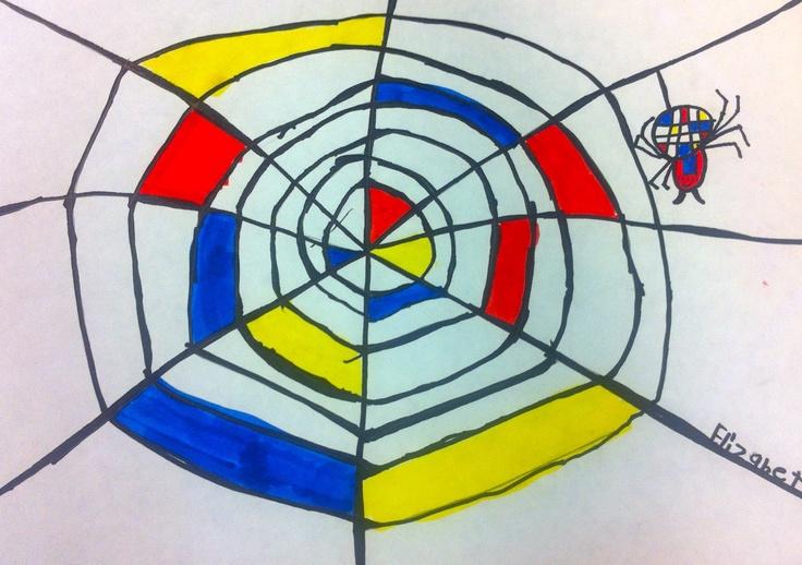 Art: Expression of Imagination Mondrian spider web