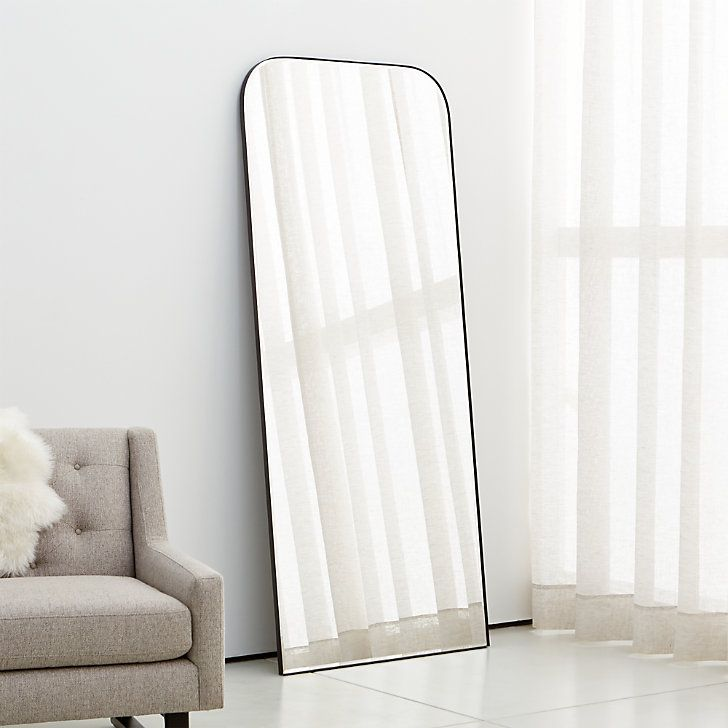 Edge Brass Arch Floor Mirror Reviews Crate And Barrel In 2020 Minimalist Wall Mirrors Floor Mirror Floor Length Mirror