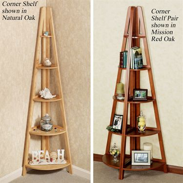 Escalera Wooden Corner Shelves