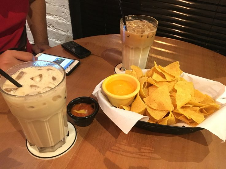 Baileys with nachos at popolo coffee