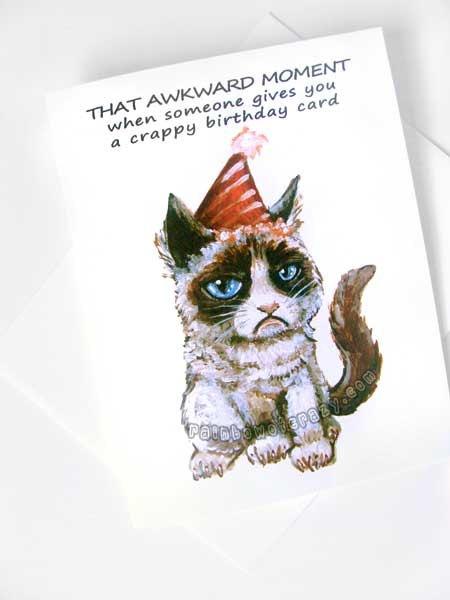 grumpy cat crappy birthday cake