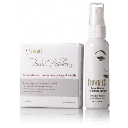 Enter the competition now to Win one of 4 Frownies Corners of Eyes & Mouth Facial Patches + Rose Water.  All natural, anti-wrinkle patches.