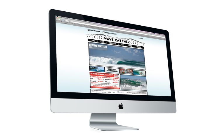 Wave Catcher website design and layout