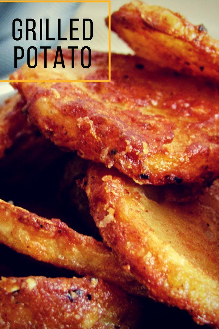 Quick grilled potato recipe - spicey