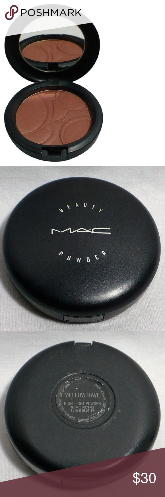 "MAC MELLOW RAVE Beauty Powder BALLOONACY Ltd Ed LE Top layer has been used. Some ""ridge"" stamp is still visible.  Review all photos carefully as they are considered part of the Item Description.  Swatch photos courtesy of beauty bloggers MAC Cosmetics Makeup Bronzer"