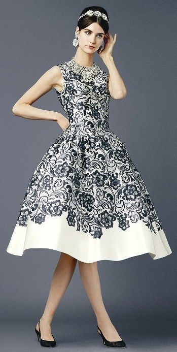 One of the greatest Dolce and Gabbana dresses I've ever seen