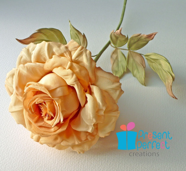 2950 best fabric flowers images on pinterest bridal crown bridal hand made and hand painted large tea coloured rose silk crepe and for the mightylinksfo