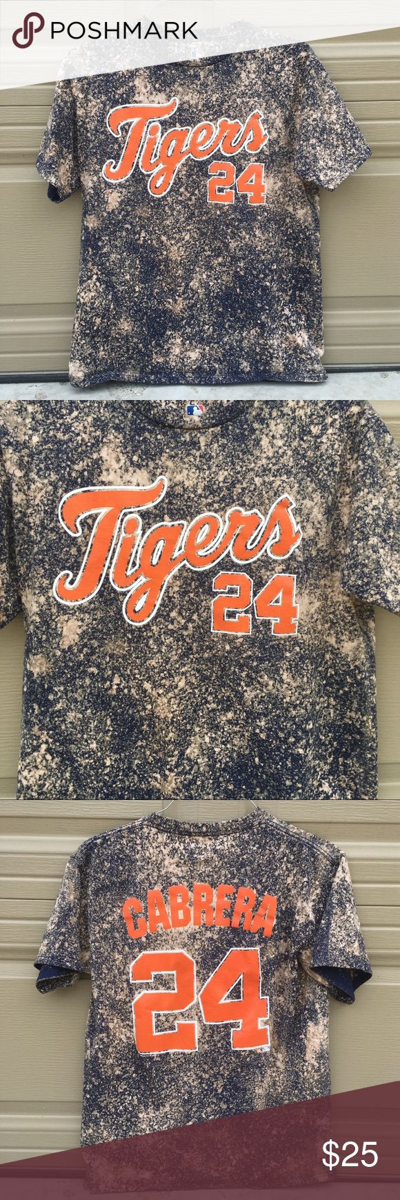 Bleached Detroit Tigers shirt Custom bleached Detroit Tigers t shirt made by me. Men's size medium. *NOTE* this item is NOT adidas. I simply put that just for the listing. adidas Shirts Tees - Short Sleeve