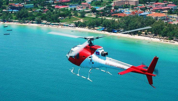 Helikopterler Kamboçya Kamboçya A kuşbakışı görünümü