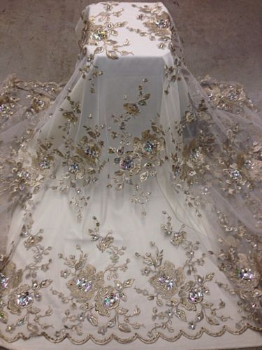 details about white mesh wgold floral embroidery multi