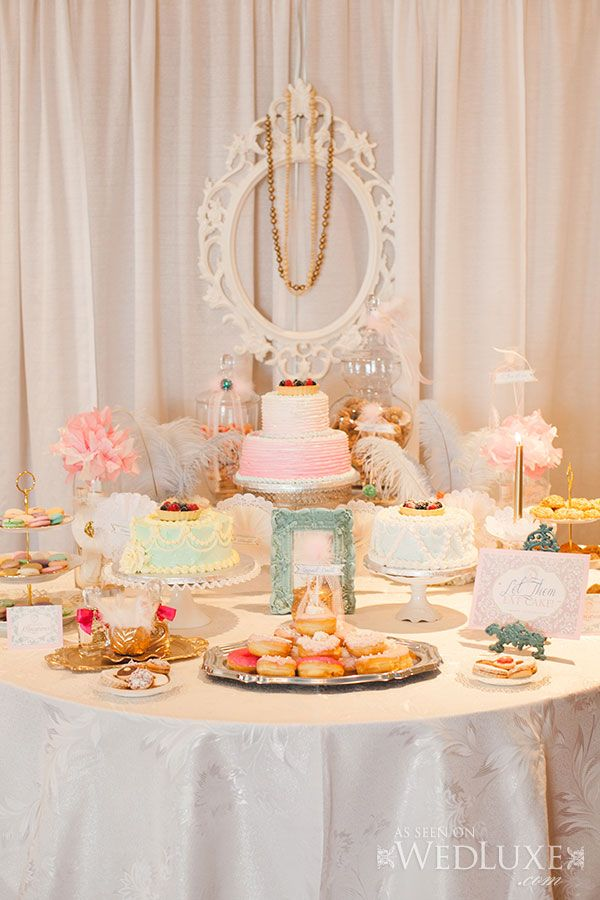 wedding shower candy buffet ideas%0A Let them eat cake  bridal shower sweets table