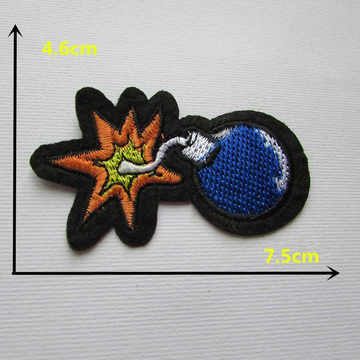 Personnages de dessin animé bleu bombe t thermofusible adhésif robe applique broderie patch BRICOLAGE vêtements chaussures accessoires patch 1 PCS C334