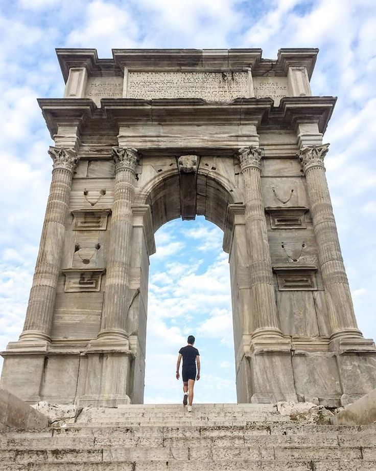 Arch de Trajan (Ancona Italy) Ancona is about $18 and 4h away from Rome. Recommended! Photo @ehidenis || Get NomadApp and travel the world with us http://ift.tt/23sD8Hi