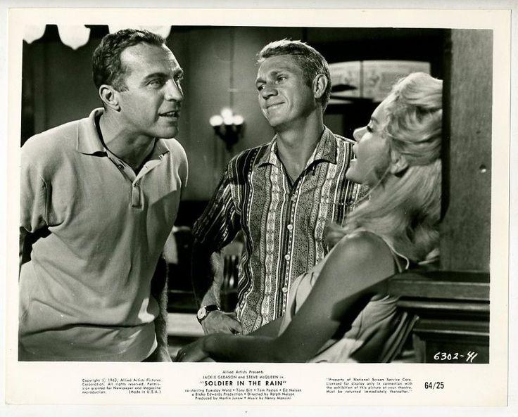 1963 movie poster & still | ... movie still steve mcqueen tuesday weld soldier in the rain 1963