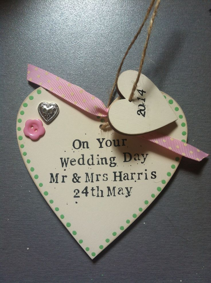 Wedding gift. Mr and Mrs. Decorated wooden heart.