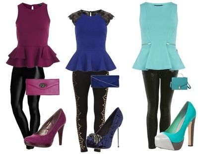 Party outfit peplum outfits