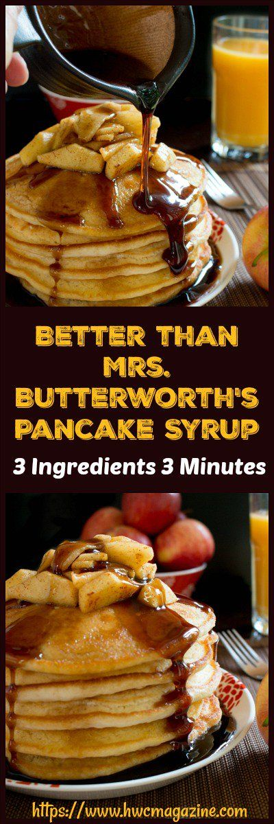 Better Than Mrs. Butterworth's Pancake Syrup