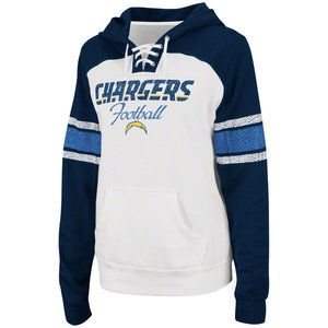 NFL - San Diego Chargers Women's Star Power Lace Neck Hooded Sweatshirt