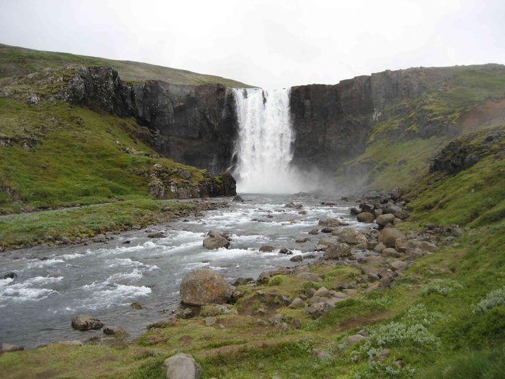 Gufufoss, a waterfall near Seydisfjordur, Iceland
