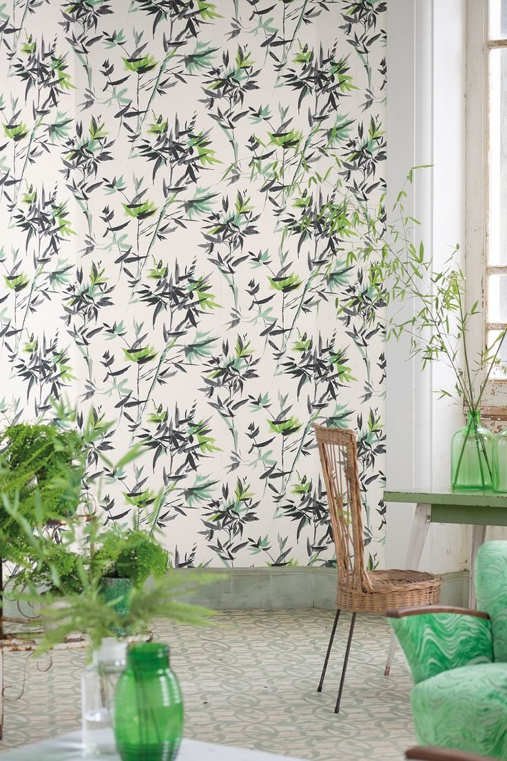 104 best designers guild images on pinterest designers for Bamboo wallpaper for walls