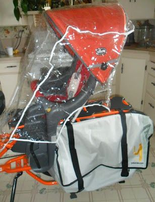 kids rain/winter protection inspiration - You Ain't Got Jack: D.I.Y. Child's Bike Seat Weather Protector