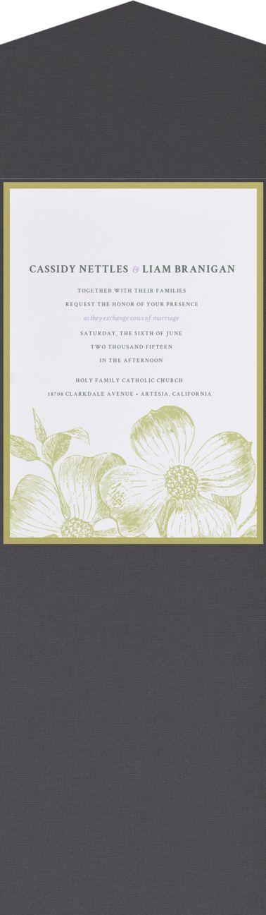 luau wedding invitation templates%0A First Bloom Wedding Invitation