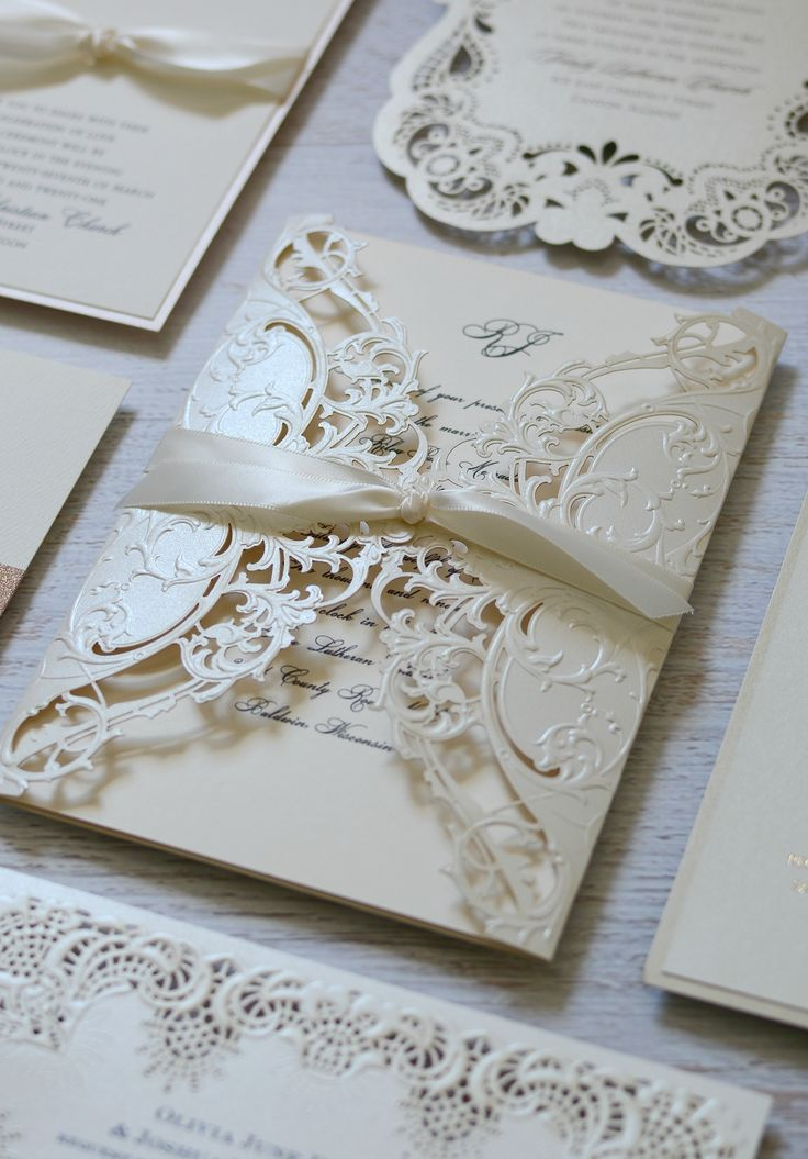 Your wedding invitation sets the tone for the biggest day of your life. Do it in drop-deal-gorgeous style with a laser cut design that will knock your guests socks off.