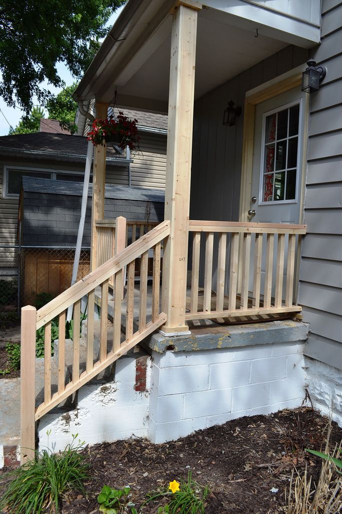 Porch Progress And The Baby Do List Railings Outdoor Porch Step Railing Porch Handrails