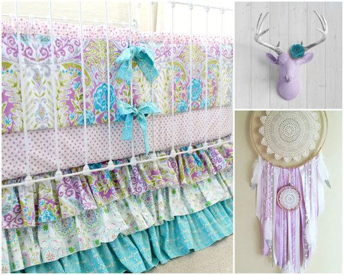 Lavender Boho Baby Girl Crib Bedding Purple baby bedding girls - http://babyfur.net/lavender-boho-baby-girl-crib-bedding-purple-baby-bedding-girls/