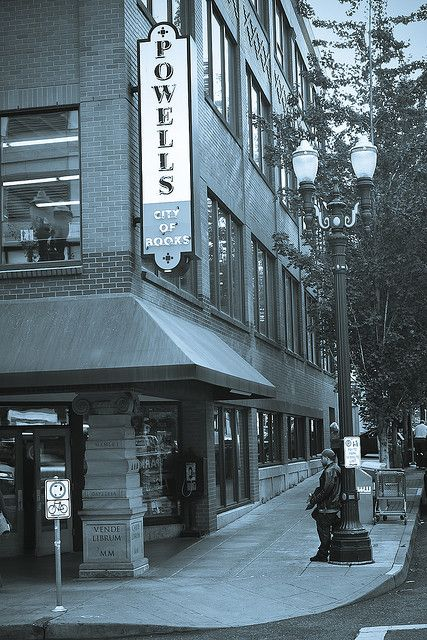 Powell's City of Books, located in Portland, Oregon, is the world's largest independent used and new bookstore. City of Books occupies a full city block and stocks more than a million used and new books. Photo by Randy Kashka.