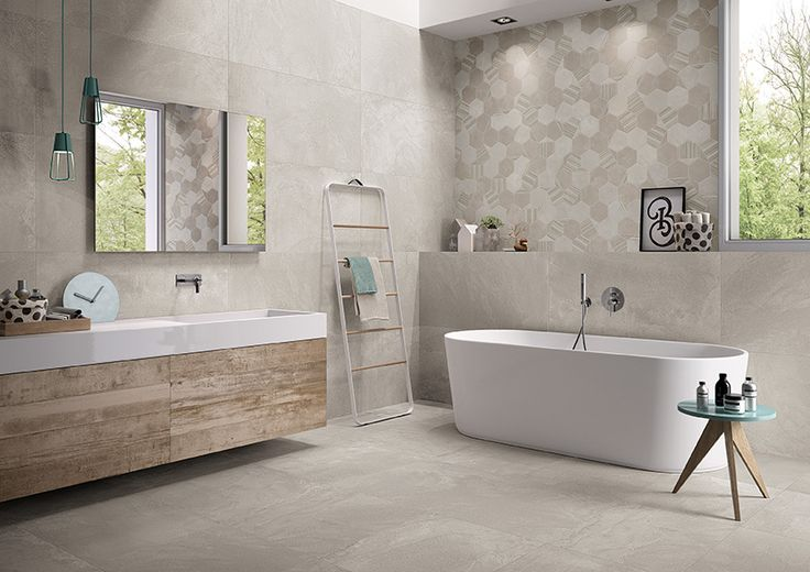 +3 collection by #viva #emilgroup #tiles #ceramics #floortiles #interiordesign #madeinitaly #architecture #style #papereffect #concreteeffect #bathroom