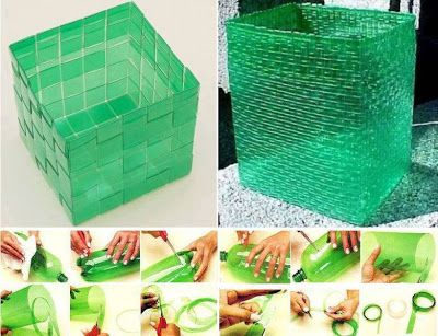 RECYCLE!!! How To Weave Plastic Baskets.. i cant wait to give this a try..Brilliant Ideas.. #diy, #handmade