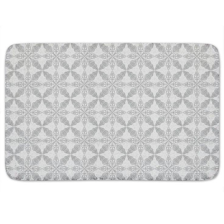 Uneekee Moroccan Grey Bath Mat