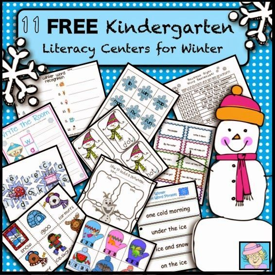 11 FREE Kindergarten Literacy Centers for Winter! Here are 11 literacy center activities, compiled and ready to grab for your classroom! Please leave feedback for the teacher authors when you can.