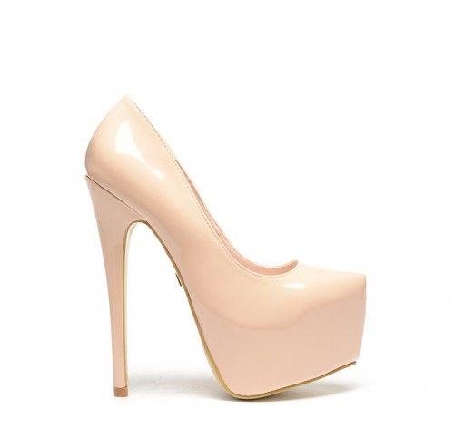 Pantofi Vormo Bej -  Piele eco lacuita  Colectia Pantofi cu toc de la…