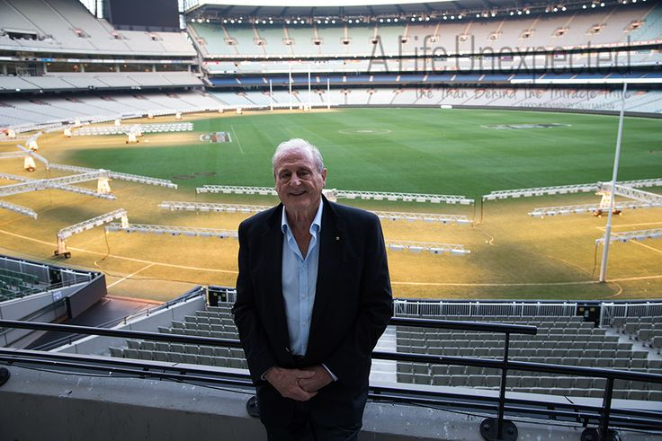 1964 Olympian, Ken Roche (400m Hurdles) after his interview at the MCG. Photo by Stefano Ferro.