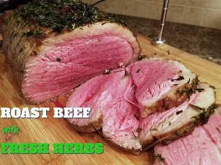 Club Foody Recipes and Videos: Roast Beef with Fresh Herbs