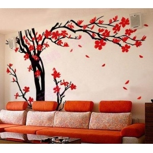 Black tree wall decal google search house dreams for Appliqu mural autocollant