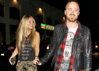 Aaron Paul  Lauren Parsekian Celebrate Upcoming Nuptials in Sin City -                                     Preparing for his upcoming time at the alter,  ...  Aaron Paul -   and his soon-to-be wife Lauren Parsekian celebrated their romance in La