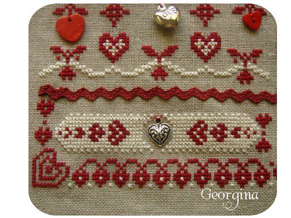 El blog de Georgina: Punto de cruz